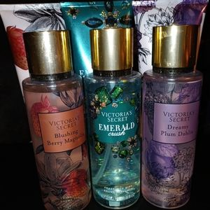 3 Full sets PINK Body Spray and Lotion
